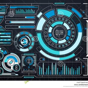 Futuristic Render Vector Graphics: Stock Illustration Blue Abstract Futuristic Curve Vector Background Shining Image