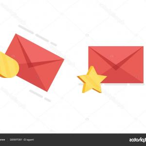Vector Envelope Express: Stock Illustration Sending Letter Express Delivery Favorites