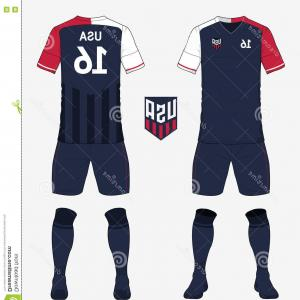Sports Jersey Number 3 Vector: Stock Illustration Set Football Jersey Soccer Kit Football Apparel Mock Up Vector Template Club Flat Logo Front Back View Uniform Image