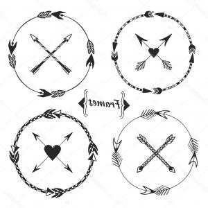Arrow Border Frame Vector: Stock Illustration Set Of Arrow Frames Tribal