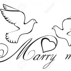 Heart Doves Vector: Stock Illustration Silhouette Of Doves With Heart