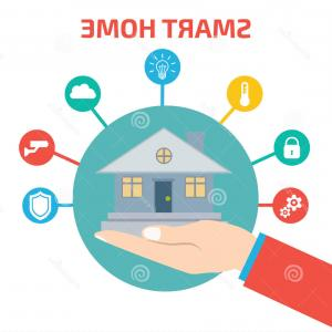 Free Technology Vector Graphics: Stock Illustration Smart House Technology Vector Illustration Concept Image