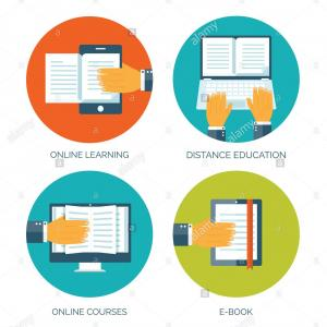 Smart Education Vector: Stock Illustration Smart Learning Education Book Shop