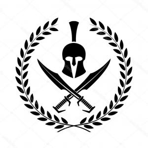 Warrior Vector Art: Ancient Helmet Warrior Soldier Spartan Icon
