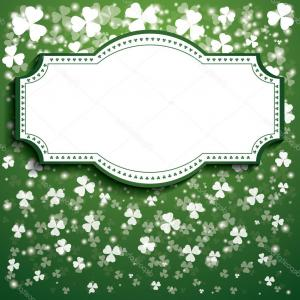 Patrick Vector Spaces: Stock Illustration St Patricks Day Background With