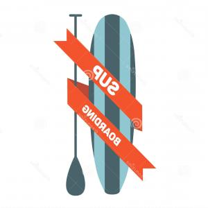 Stand Up Paddle Boarder Vector: Stock Illustration Stand Up Paddle Surfing Logo Image