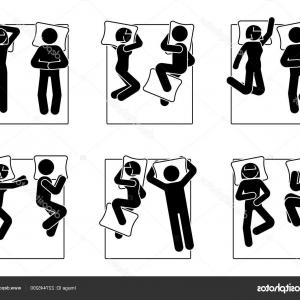 Stick Figure Positions Vector Set: Photostock Vector Stick Figure Different Sleeping Position Set Vector Illustration Of A Dreaming Person Icon Symbol Si