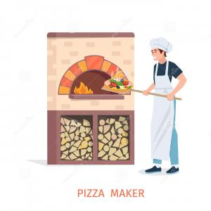 Vector Stone Oven: Stock Illustration Stone Oven Fireplace Line Icon