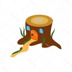 Tree Stump Vector Transparent: Stock Illustration Stump House Icon Vector Isolated