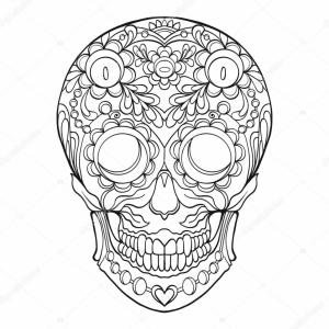 Sugar Skull Outline Vector: Stock Illustration Sugar Skull The Traditional Symbol
