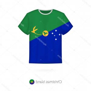 Christmas Shirt Design Vector: Stock Illustration T Shirt Design With Flag