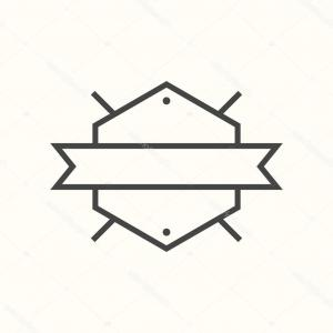 Hipster Vector Ribbon: Vintage Hipster Logo Arrows With Ribbon Vector