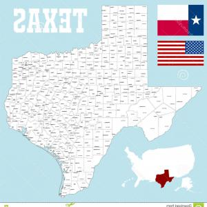 Texas Counties Map Vector: Stock Illustration Detailed Map Cooke County Texas