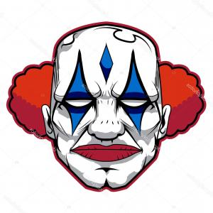 Creepy Clown Vector: Creepy Clown Eps Vector Stock