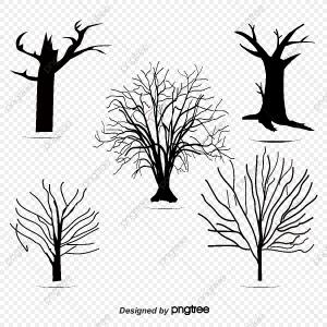 Trees Plan Vector Art: Stock Illustration Top View Vector Set Of