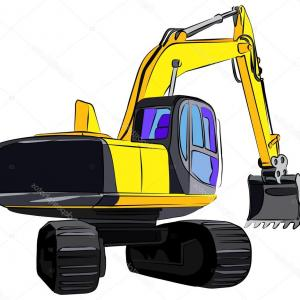 Caterpillar Trackhoe Vector: Diecast Construction Toys Truck Worker Excavator