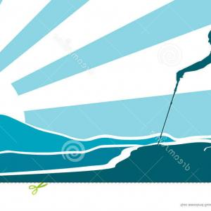 Stylized Vector Hiker: A Young Man Backpacker In The Jungle Forest Hiker Explorer Vector Illustration With Gm