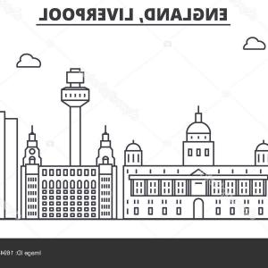 UK Skyline Vector: Liverpool Uk Skyline Logo Cityscape Landmarks