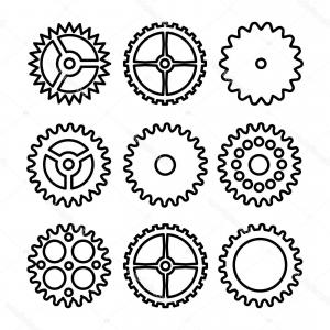 Vector Mechanical Clock Wheels: Photostock Vector Gray Clock Wheel Interface Icon Vector Pictograph Style Is A Flat Symbol On Chess Transparent Backgr
