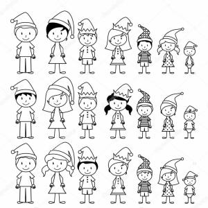 Stick Family Vector Art: Stock Illustration Vector Collection Of Line Art