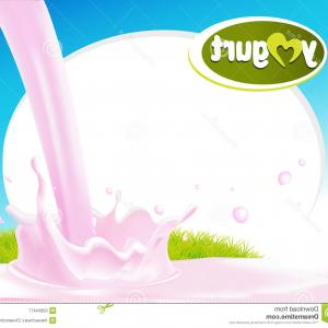 Yogurt Vector: Stock Illustration Low Fat Plain Yogurt Vector