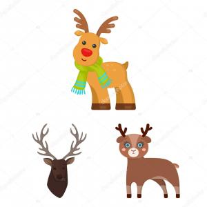 Vector Stag Elk: Stock Illustration Vector Design Of Elk And