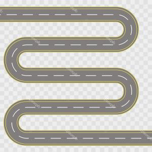 Transparent Curved Road Vector: Stock Illustration Vector Illustration Of Winding Curved
