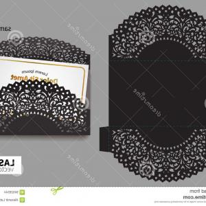 Looking For A Laser That Can Be Cut Using Files Vector: Photostock Vector Wedding Invitation Or Greeting Card With Abstract Ornament Envelope Template For Laser Cutting Paper