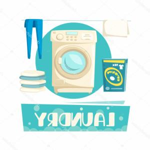 Clothes For Washing Vector: Stock Illustration Vector Laundry And Washing Machine