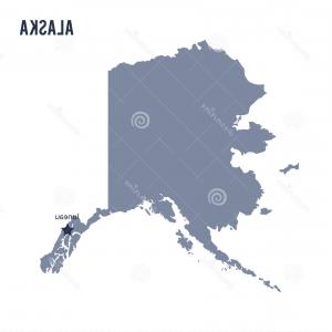 Alaska State White Background Vectors: Photostock Vector Set Of Gray Usa States On White Background Vector Illustration Simple Flat Map United States Usa Fla