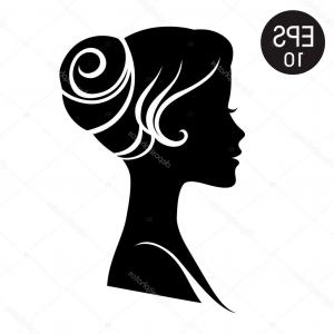 Black Woman Stock Vector: Photostock Vector Vintage Vector Woman Pointing With Finger Black White Logo Icon