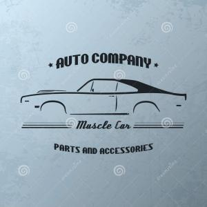 Muscle Car Silhouette Vector High Res: Stock Illustration Vintage Muscle Car Company Logo Design Vector Template Image