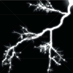 White Lightning Vector: Stock Illustration White Lightning Isolated On Black
