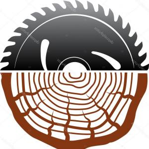 Wood Cutting Vector: Stock Photography Abrasive Disc Wood Cutting Isolated Image