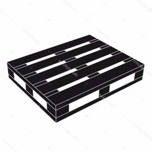 Vector Black Pallet: Photostock Vector Wooden Pallet Black Symbol Vector