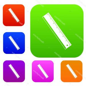 Yardstick Vector: Stock Illustration Yardstick Set Color Collection
