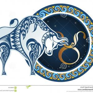 Taurus Vector: Photostock Vector Zodiac Sign Taurus Illustration Vector
