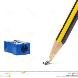Broken Pencil Vector: Broken Pencil On White Vector