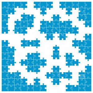 Corner Puzzle Piece Vector: Stock Image Colored Puzzle Corner Pieces Individual Parts Image