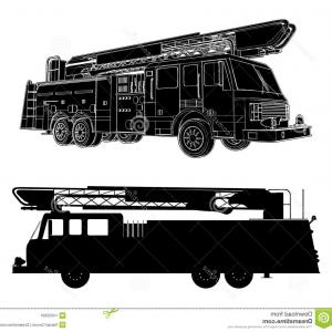 Fire Truck Vector Art: Big Fire Engine Vector Clipart