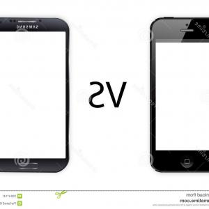 Vector Galaxy S4: Stock Image Iphone Vs Samsung Galaxy S Isolated White Background Image