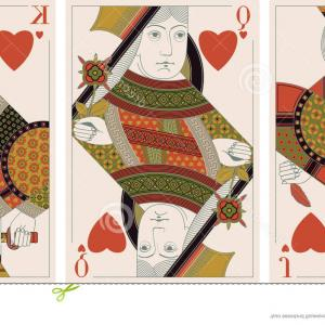 King Of Hearts Card Vector: Stock Image Jack King Queen Hearts Vector Image