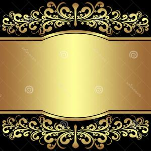 Blue And Gold Border Vector: Stock Image Luxury Background Decorated Golden Royal Borders Presented Image