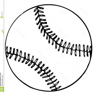 Vector Baseball Laces Only: Abstract Baseball Image With Red Stitches Vector