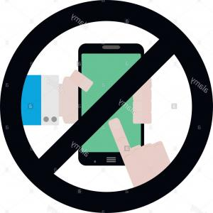 Phone Symbol Vector: Stock Image No Use Phone Symbol Vector Ban Telephone And Smartphone Zone Badge