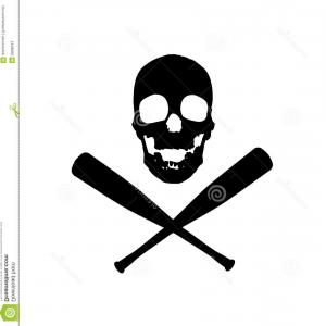 Vector Baseball Cross: Baseball Bat Cross Blue Line Icon