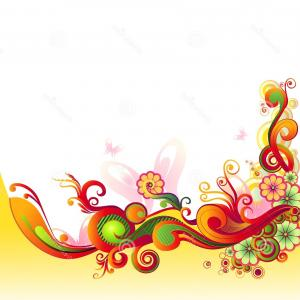 Paisley Swirl Flower Vector: Stock Images Colorful Floral Swirl Vector Illustration Image