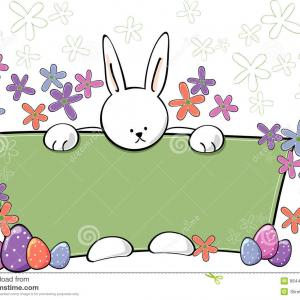 Spring Easter Vectors: Stock Images Easter Bunny Text Panel Image