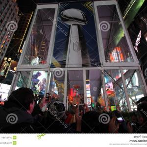 Super Bowl XLVIII Trophy Vector: New York January Pepsi Official