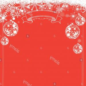 Snowflake Border Vector Art: Stock Photo A Size Vertical Cafe Menu Classic Winter Christmas Red Background